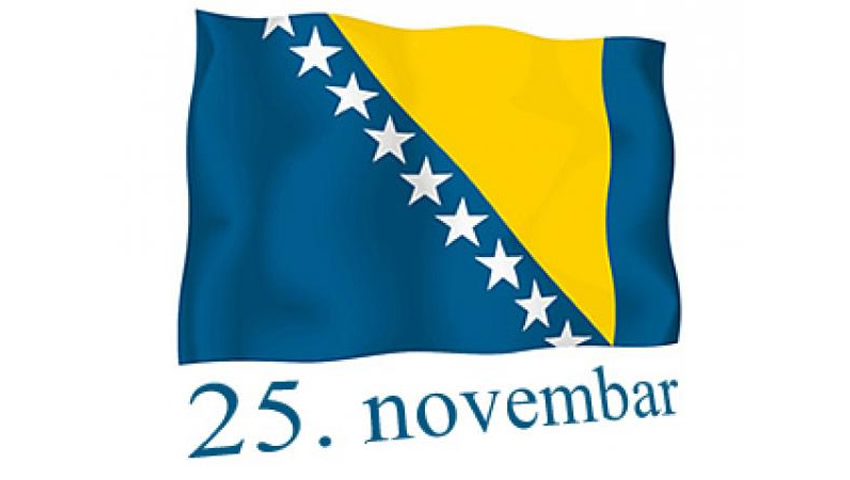 Happy Holiday, November 25th, The Statehood Day Of B&H