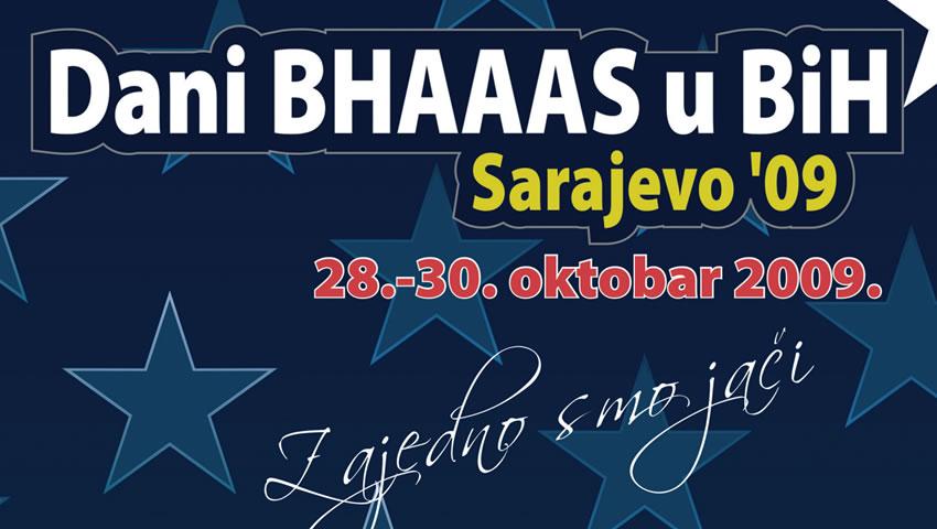Prvi Dani BHAAAS U BiH, Sarajevo, 28-30. Oktobar 2009.