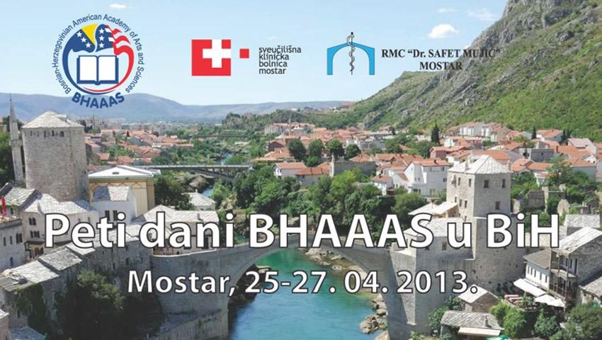 """Međunarodni Simpozij """"Peti Dani BHAAAS U Mostaru"""" Od 25. Do 27. Travnja"""