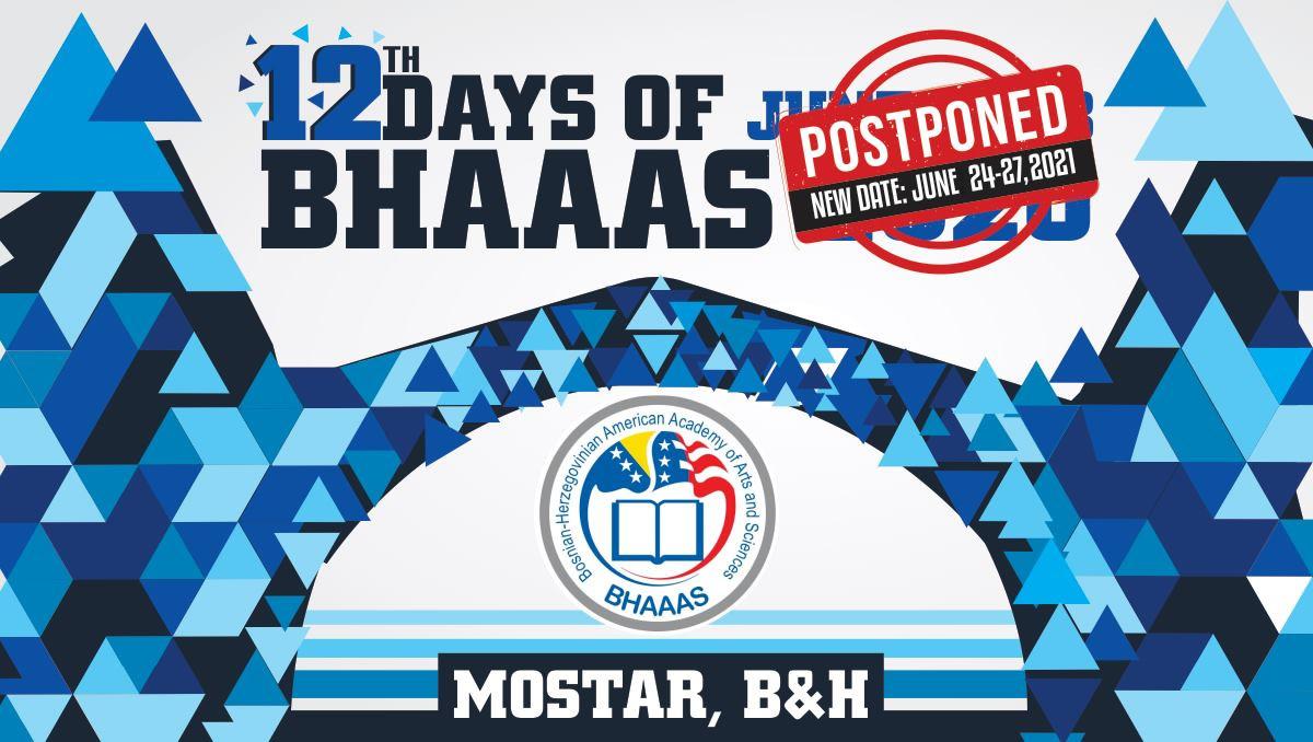 Postponing 12 Days BHAAAS in BiH-