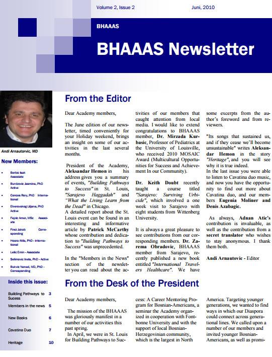 Newsletter Volume 2, Issue 2 June 2010