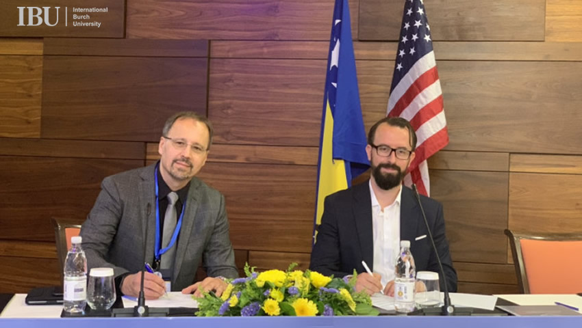 Signed Agreement With Bosnian-Herzegovinian American Academy Of Arts And Sciences