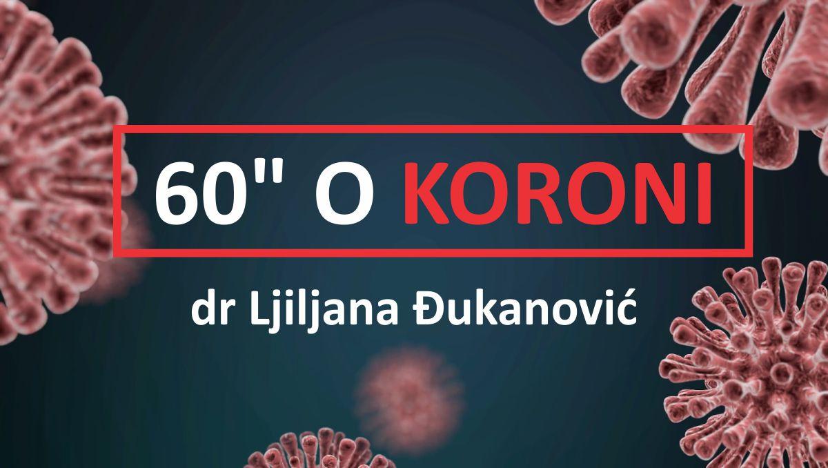 dr Ljiljana Djukanovic - 60 sekundi o koroni