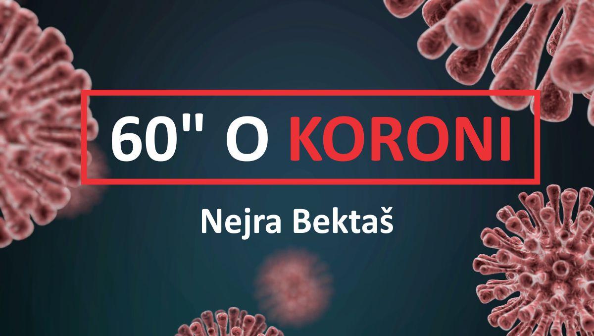 Nejra Bektas - 60 sekundi o koroni