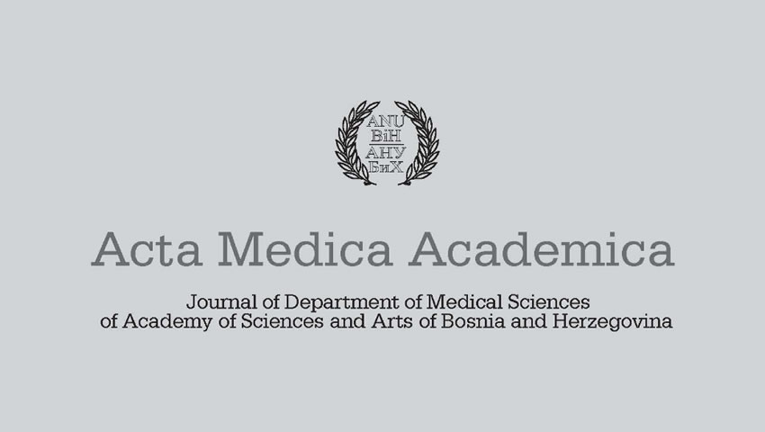 Dr Kenan Arnautovic Served As A Guest Editor For Supplement Of Acta Medica Academica