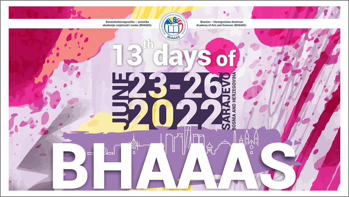 13th BHAAAS Days In BH - Sarajevo 2022